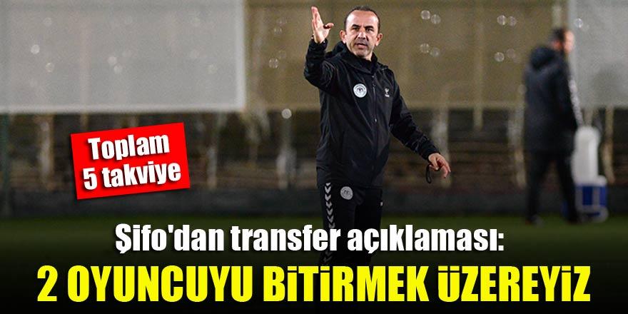 Konyaspor Teknik Direktörü Mehmet Özdilek'ten transfer açıklaması