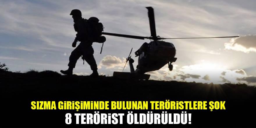 Sızma girişiminde bulunan teröristlere büyük şok!
