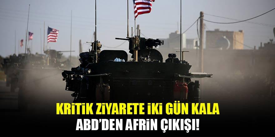 ABD'den son dakika Afrin açıklaması!