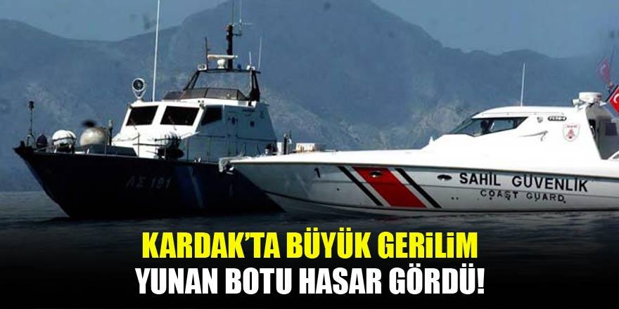 Kardak'ta büyük gerilim! Yunan botu hasar gördü
