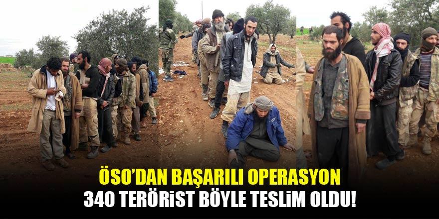ÖSO'dan flaş İdlib iddiası! 340 terörist böyle teslim oldu...
