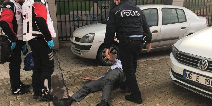 Konya'da alkollü şahıs polis ve sağlık ekiplerine zor anlar yaşattı