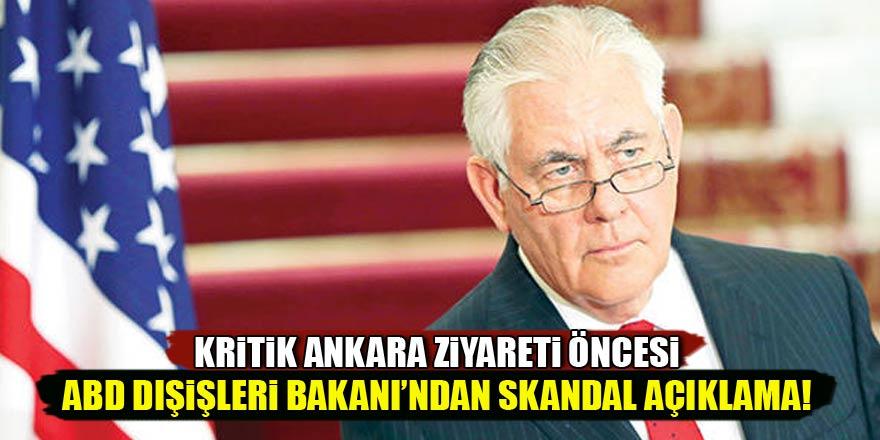 Kritik Ankara ziyareti öncesi ABD Dışişleri Bakanı'ndan soğuk mesaj