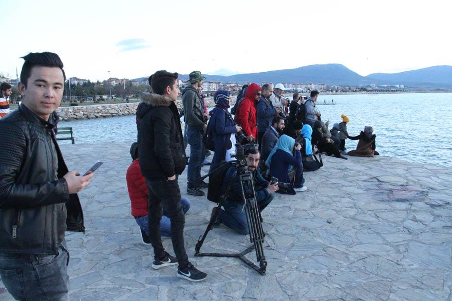 Güzel havalar Beyşehir'e ilgiyi arttırdı