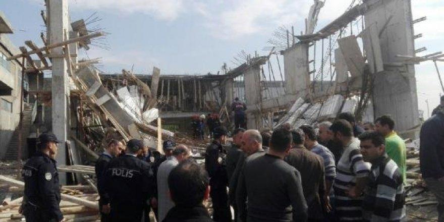 Kahramanmaraş'ta inşaatta göçük: 8 işçi yaralı