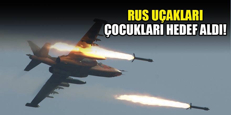 Rus uçakları okuldan çıkan çocukları vurdu!