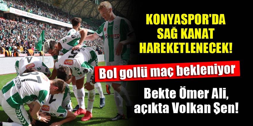 Konyaspor'da sağ kanat hareketlenecek! Bekte Ömer Ali, açıkta Volkan Şen