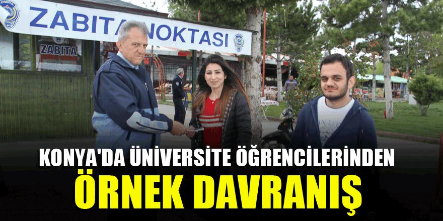 Konya'da üniversite öğrencilerinden örnek davranış