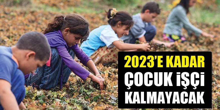 2023'e kadar çocuk işçi kalmayacak