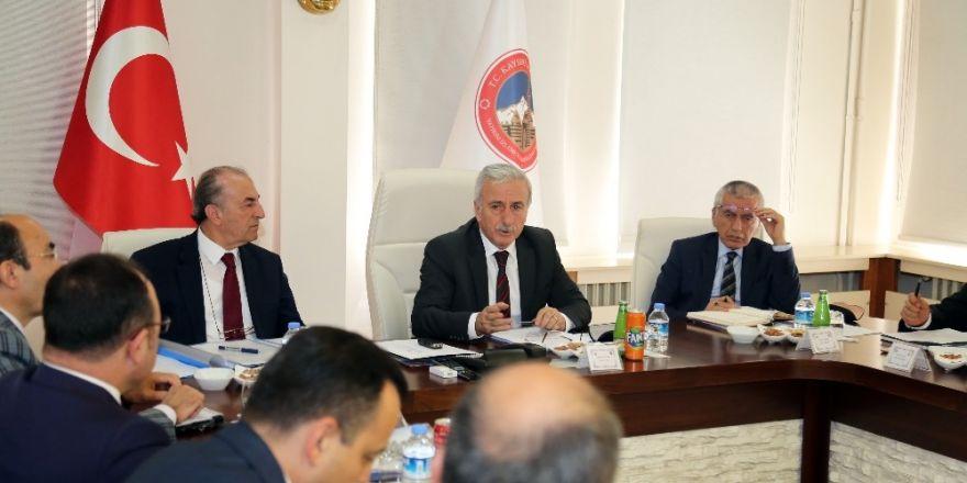 Seçim Güvenliği Toplantısı Vali Kamçı Başkanlığı'nda Yapıldı