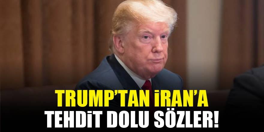 Trump'tan İran hakkında tehdit dolu sözler!