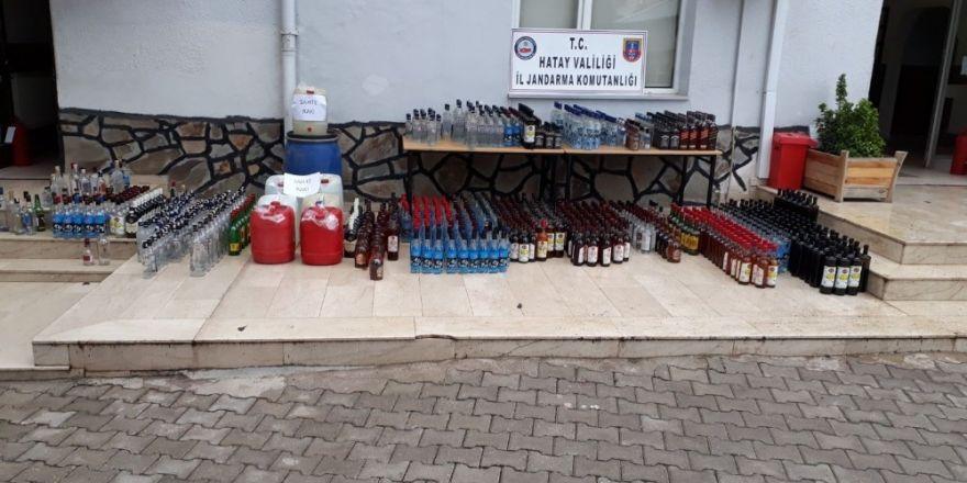 Hatay'da 930 bin litre sahte ve kaçak içki ele geçirildi