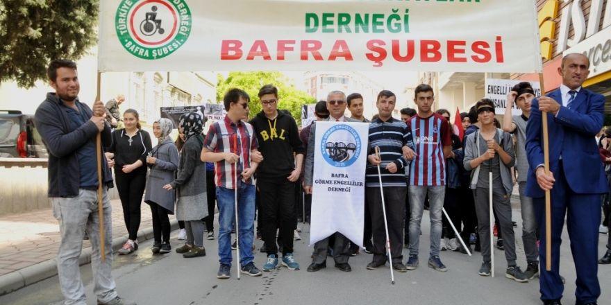 Bafra'da engelliler için farkındalık yürüyüşü
