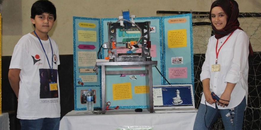 Siverek'te ortaokul öğrencileri 3D yazıcı yaptı