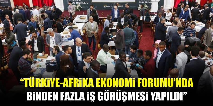 Türkiye-Afrika Ekonomi Forumu'nda binin üzerinde iş görüşmesi yapıldı