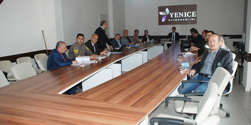 Yenice'de seçim güvenliği toplantısı yapıldı