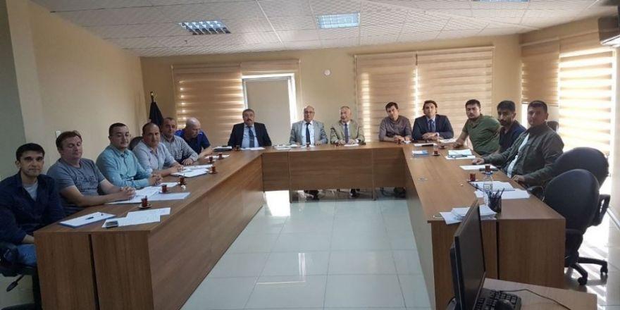 Şantiye Birimleri Mayıs ayı toplantısı gerçekleşti