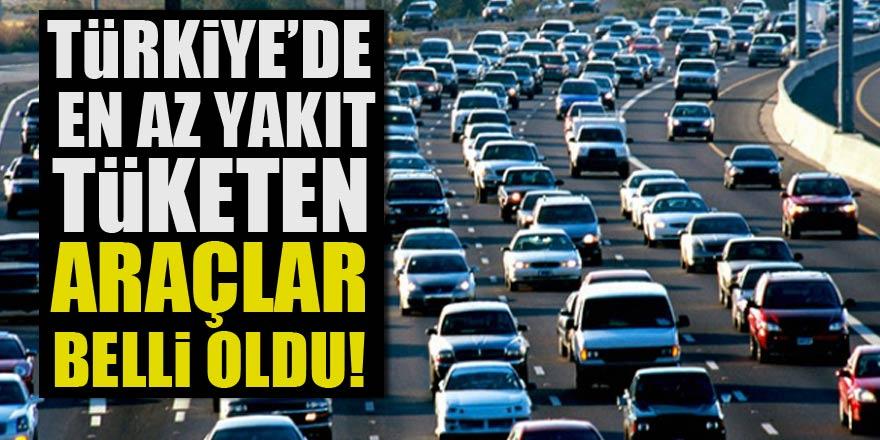 2018 yılında Türkiye'de en az yakıt tüketen araçların listesi
