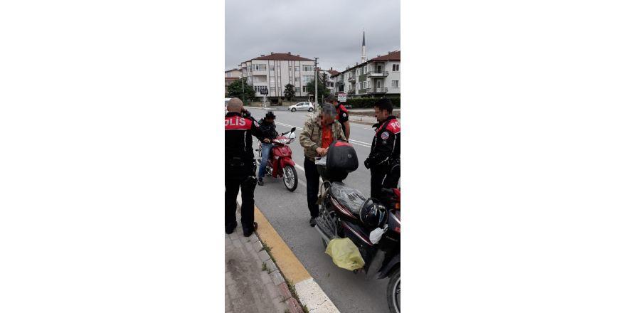 Polis ekipleri çalıntı motosikletlere karşı uygulama yaptı
