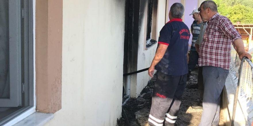 Sungurlu'da ev yangını