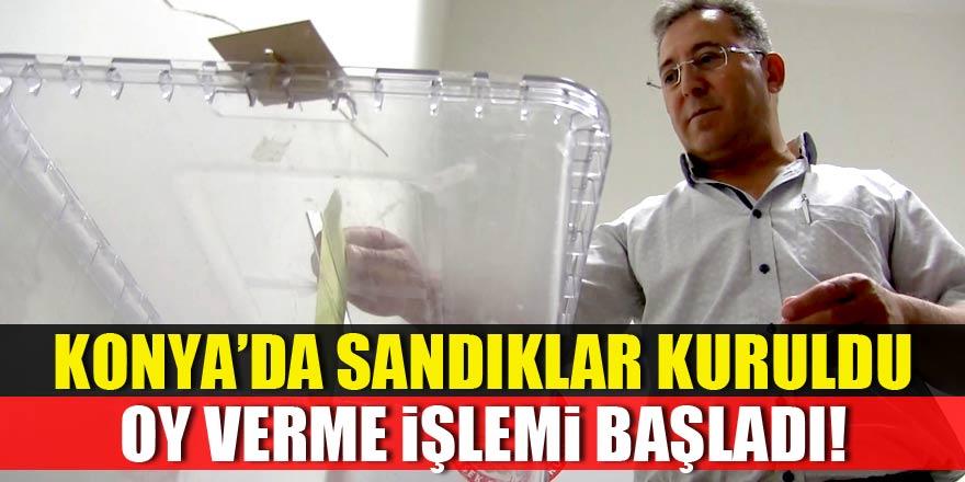Konya'da oy verme işlemi başladı