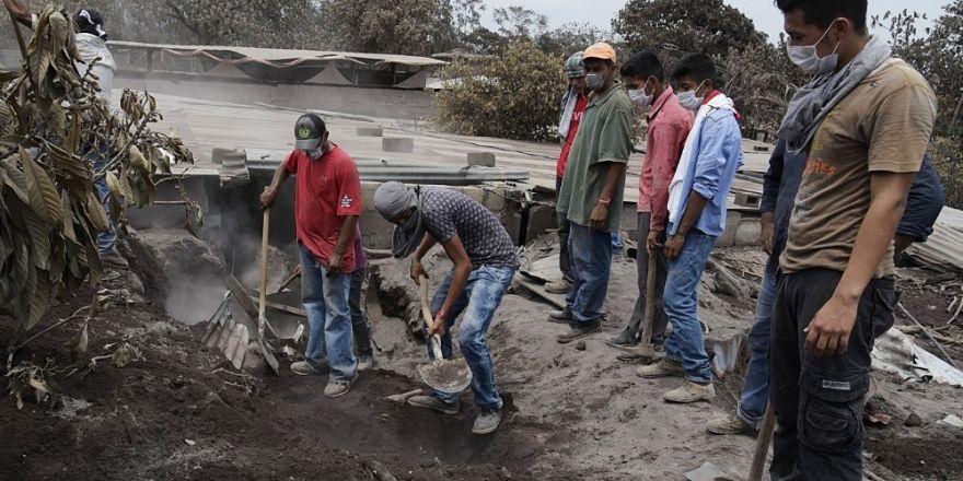 Guatemala'da volkan faciasında ölü sayısı artıyor