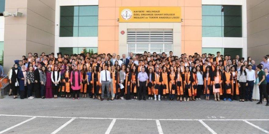 Özel Kayseri OSB Teknik Koleji ilk mezunlarını verdi