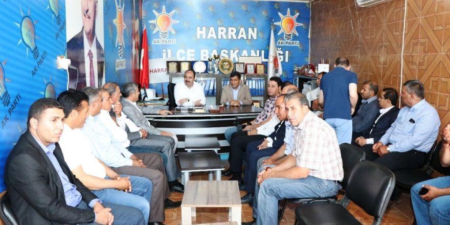 Çiftçi, Harran teşkilatı ile seçimi değerlendirdi