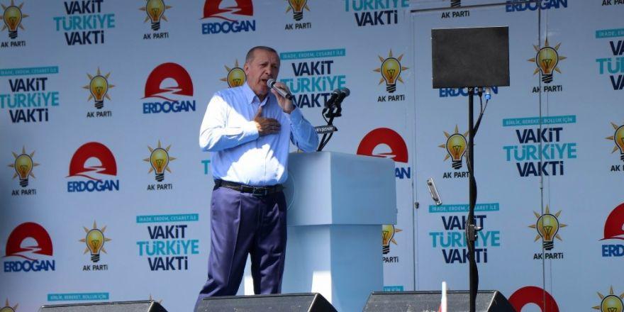 """Cumhurbaşkanı Erdoğan: """"Sözde milletin ittifakı diye ortaya çıkanlara 24 Haziran'da dersini vereceğiz"""""""