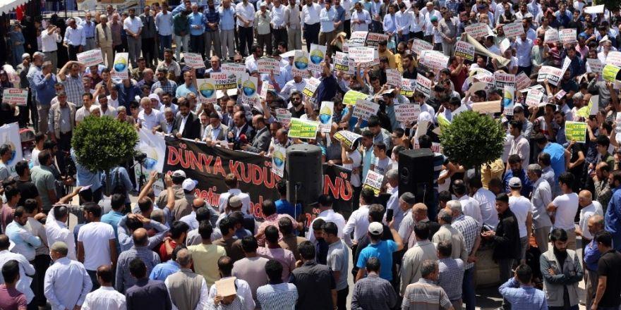 Diyarbakır'da İsrail protestosu