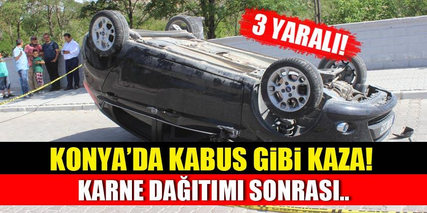 Konya'da karne dağıtımı sonrası feci kaza!