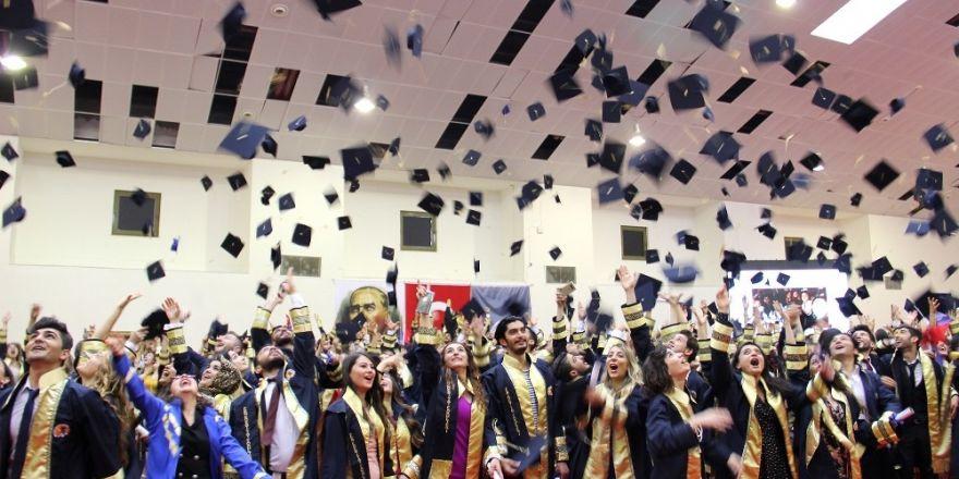 Fen-Edebiyat Fakültesi mezunları kep fırlattı