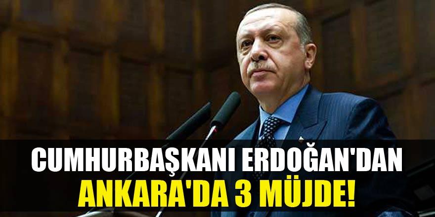 Ankara'da tarihi miting! Erdoğan'dan 3 müjde