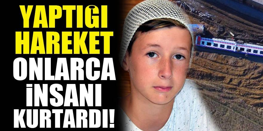 11 yaşındaki Emir'in hareketi, devrilen trende onlarca kişiyi kurtardı!