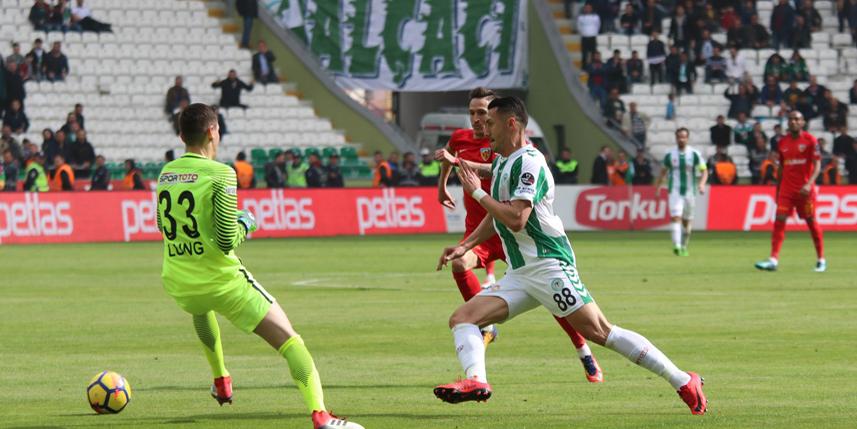 Konyaspor, Kayserispor ile 21. randevuda
