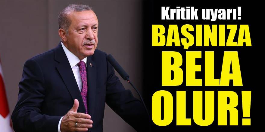 Başkan Erdoğan'dan kritik uyarı! Başınıza bela olur