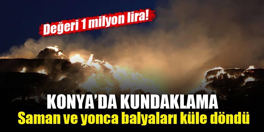 Konya'da kundaklama! Değeri 1 milyon lira!