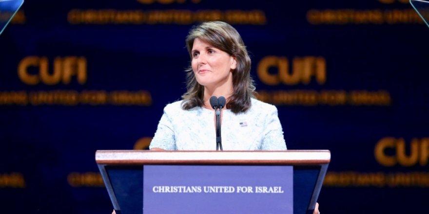 Haley, 'İsrail Savunucusu Ödülü'nü aldı