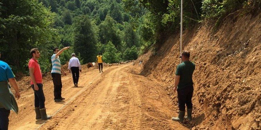 Gölyaka'da yeni yol yapım çalışmaları tamamlandı
