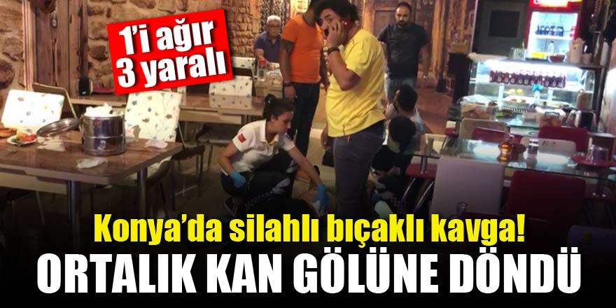 Konya'da silahlı bıçaklı kavga!