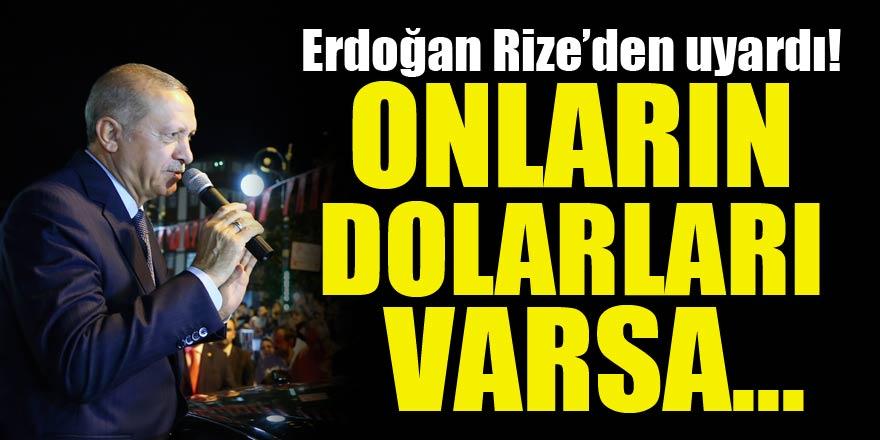 Cumhurbaşkanı Erdoğan'dan 'dolar' mesajı! 'Endişeniz olmasın'