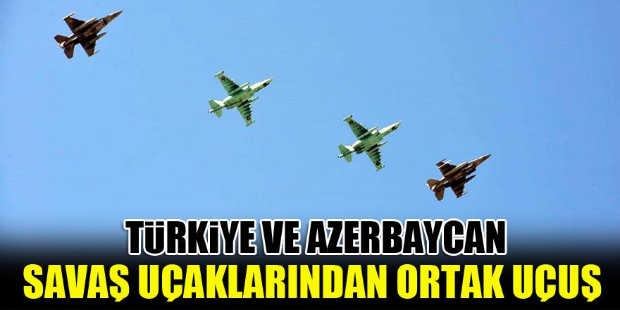 Türkiye ve Azerbaycan savaş uçaklarından ortak uçuş