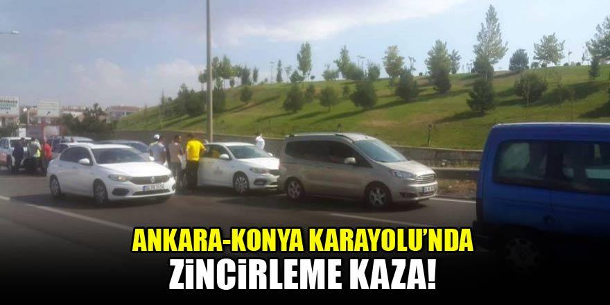 Ankara-Konya karayolunda 6 araç birbirine girdi!