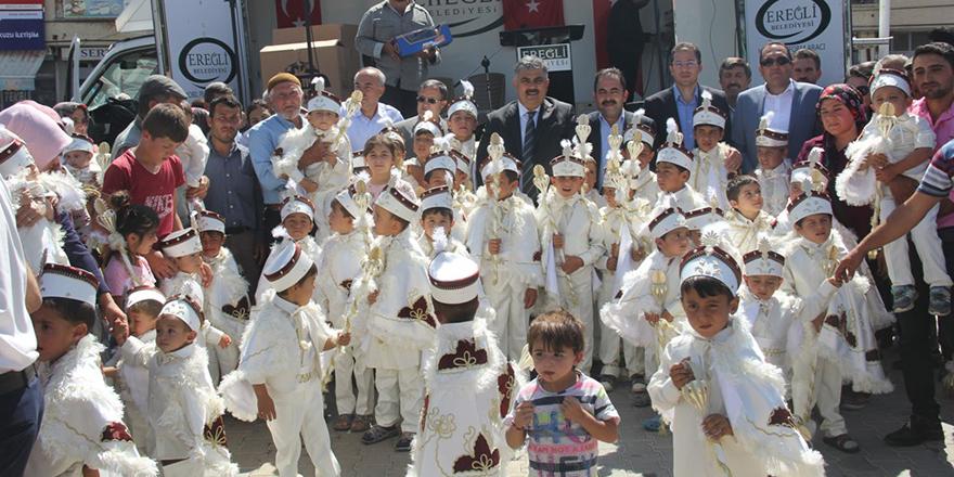 Ereğli Belediyesi Belkaya'da 60 çocuğu sünnet ettirdi