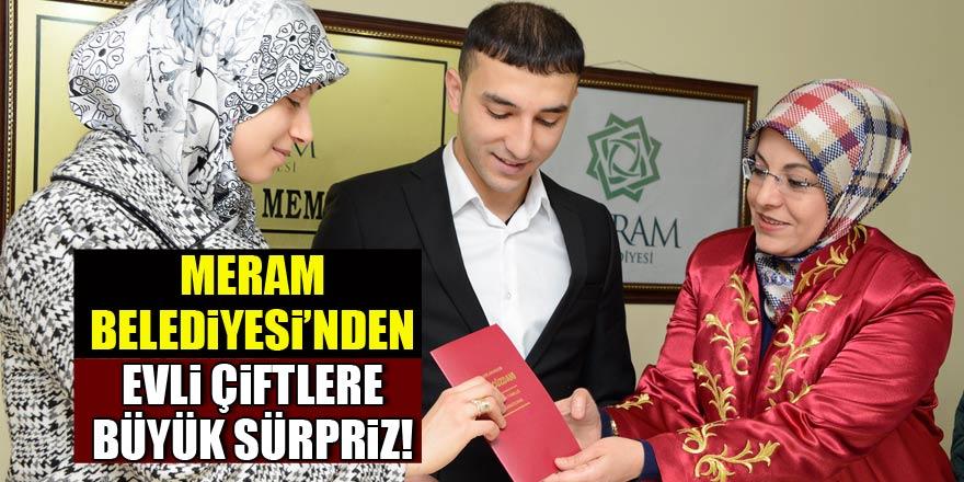 Meram Belediyesi'nden evli çiftlere sürpriz