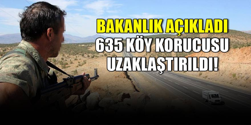 Bakanlık açıkladı: 635 kişi uzaklaştırıldı