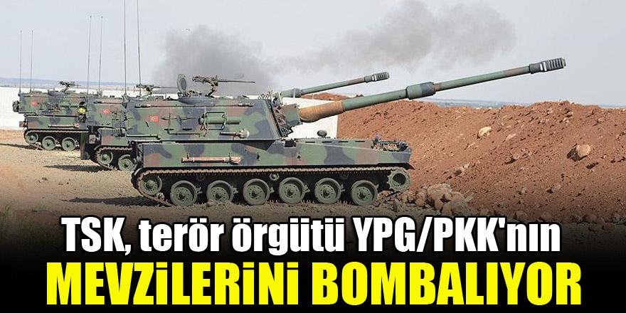 TSK, terör örgütü YPG/PKK'nın mevzilerini bombalıyor