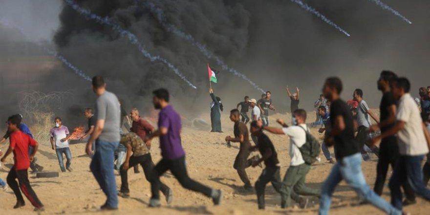İsrail askerleri Gazze'de 1 Filistinli genci şehit etti