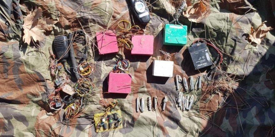 Amanos Dağları'nda BTÖ'ye ait bomba yapımında kullanılan malzemeler ele geçirildi