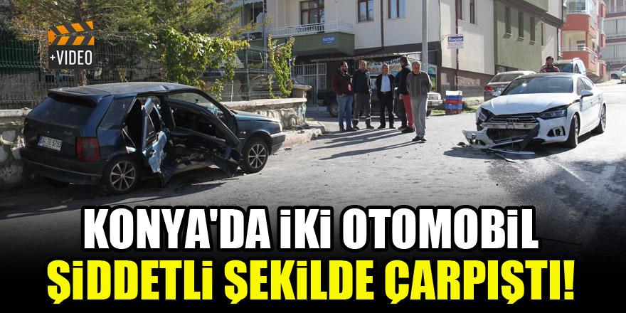 Konya'da iki araç şiddetli şekilde çarpıştı! 5 yaralı